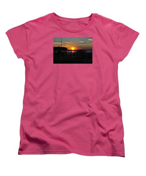 Harbor In Ephraim Women's T-Shirt (Standard Cut) by Linda Goad