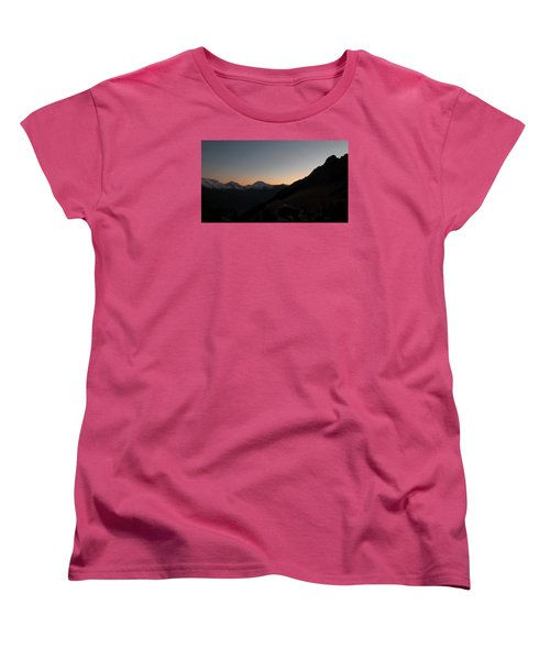 Sunset Afterglow In The Mountains Women's T-Shirt (Standard Cut) by Ernst Dittmar