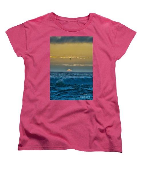 Sunset At Sea Women's T-Shirt (Standard Cut) by Billie-Jo Miller