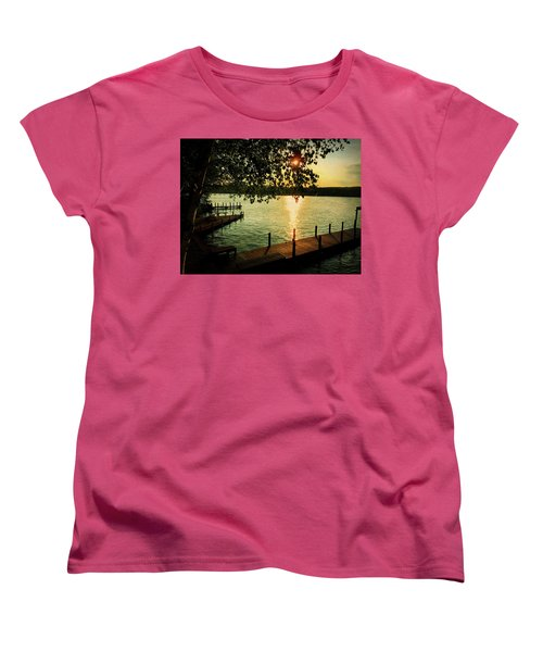 Sunset Bay Women's T-Shirt (Standard Cut) by Betty Pauwels
