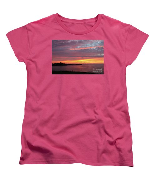 Women's T-Shirt (Standard Cut) featuring the photograph Sunset Clouds In Newquay Cornwall by Nicholas Burningham