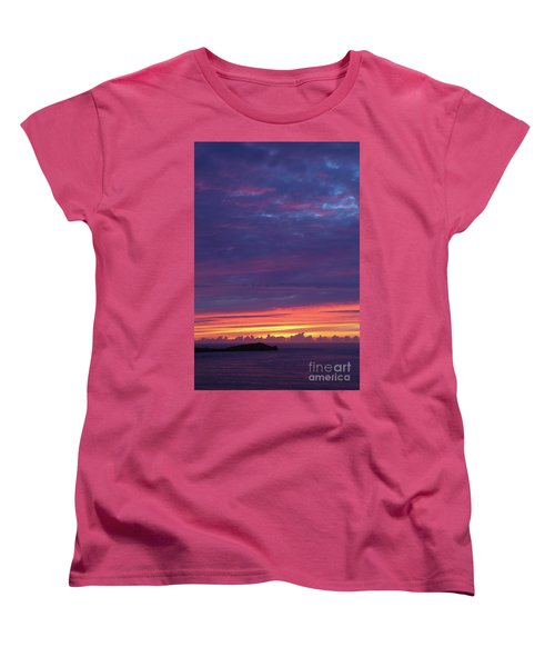 Sunset Clouds In Newquay, Uk Women's T-Shirt (Standard Cut) by Nicholas Burningham