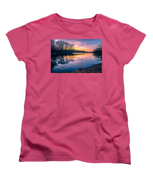 Sunset-dorothy Pond Women's T-Shirt (Standard Cut) by Craig Szymanski