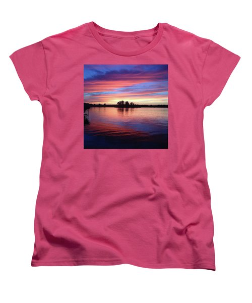 Sunset Dreams Women's T-Shirt (Standard Cut) by Rebecca Wood