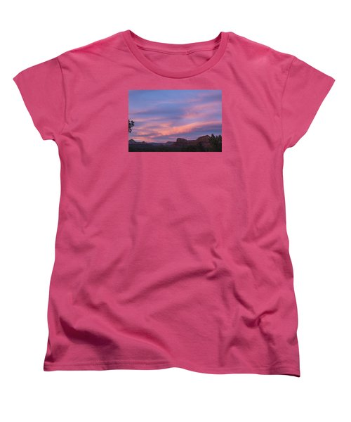 Sunset From Bell Rock Trail Women's T-Shirt (Standard Cut) by Laura Pratt