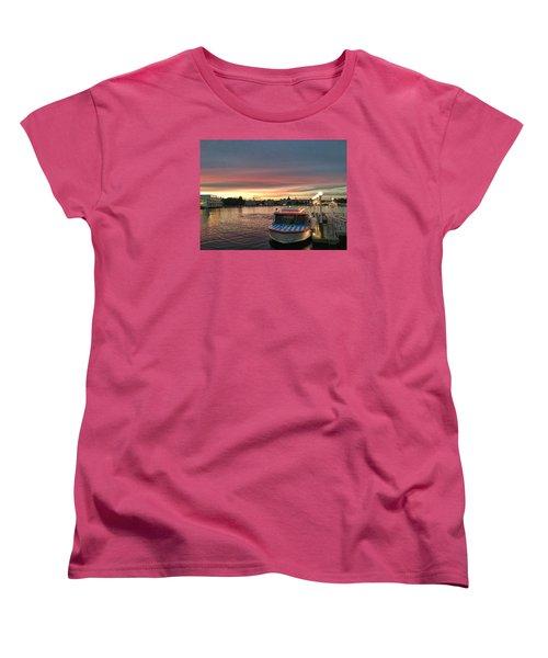 Sunset From The Boardwalk Women's T-Shirt (Standard Cut) by John Black
