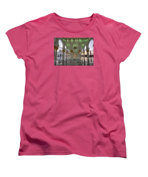 Sunset Hindu Temple Women's T-Shirt (Standard Cut) by John Swartz