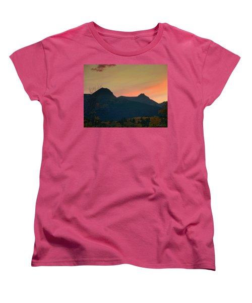 Sunset Mountain Silhouette Women's T-Shirt (Standard Cut)