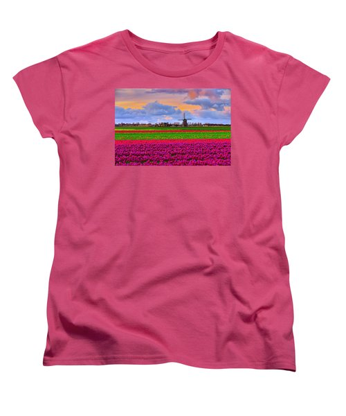 Sunset Of Colors Women's T-Shirt (Standard Cut) by Midori Chan
