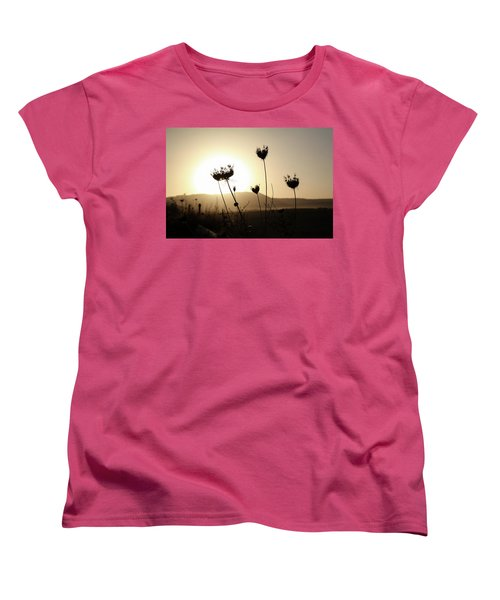 Sunset On Galilee Road Women's T-Shirt (Standard Cut) by Yoel Koskas