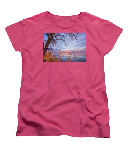 Women's T-Shirt (Standard Cut) featuring the photograph Sunset Overhang by Darren White