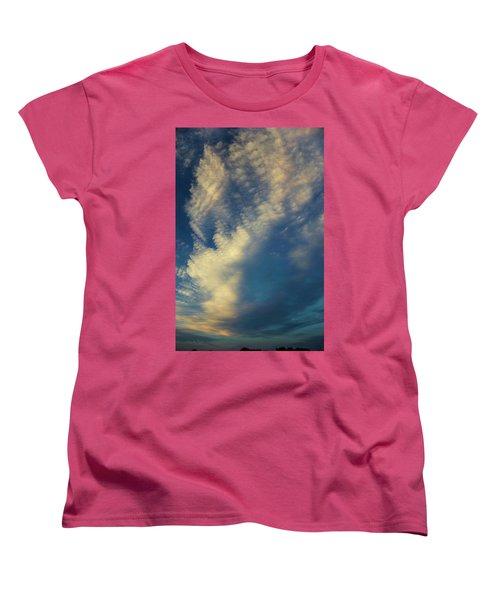 Sunset Stack Women's T-Shirt (Standard Cut) by Karen Slagle