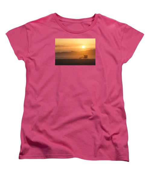 Sunset Venice Beach  Women's T-Shirt (Standard Cut) by Christina Lihani