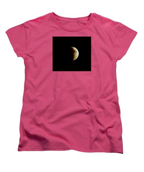 Super Moon Eclipse 2015 Women's T-Shirt (Standard Cut) by Diana Angstadt