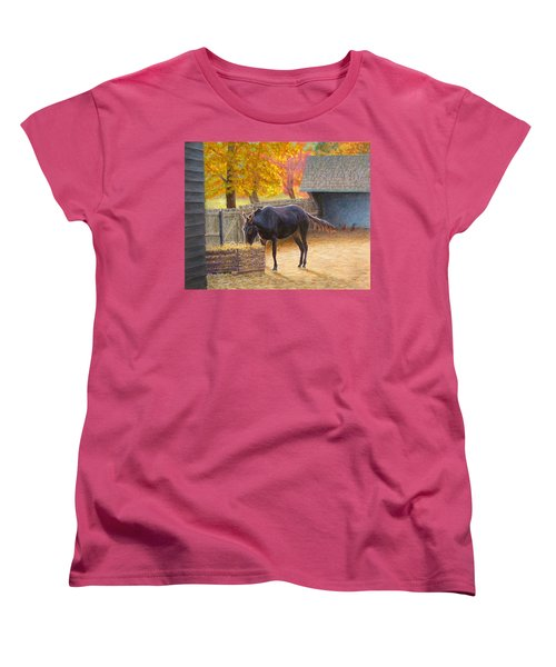 Women's T-Shirt (Standard Cut) featuring the painting Supper Time by Joe Bergholm