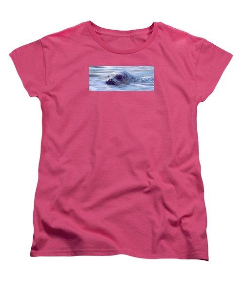 Surfacing Seal Women's T-Shirt (Standard Cut) by Greg Slocum