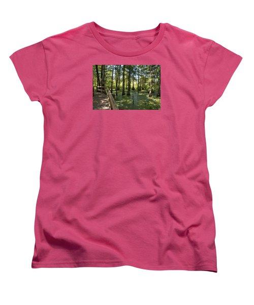 Women's T-Shirt (Standard Cut) featuring the photograph Swamps by Helen Haw