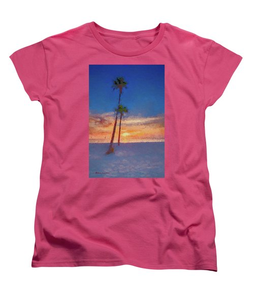Women's T-Shirt (Standard Cut) featuring the photograph Swaying Palms by Marvin Spates