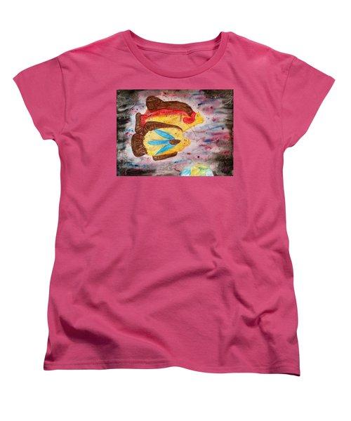Swimming By Women's T-Shirt (Standard Cut) by Thomasina Durkay
