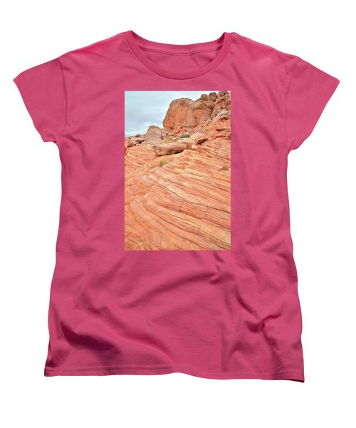 Women's T-Shirt (Standard Cut) featuring the photograph Swirling Sandstone Color In Valley Of Fire by Ray Mathis