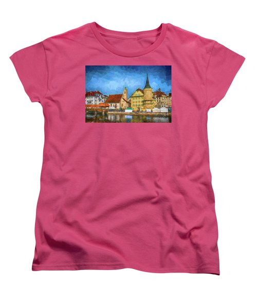 Swiss Town Women's T-Shirt (Standard Cut) by Pravine Chester