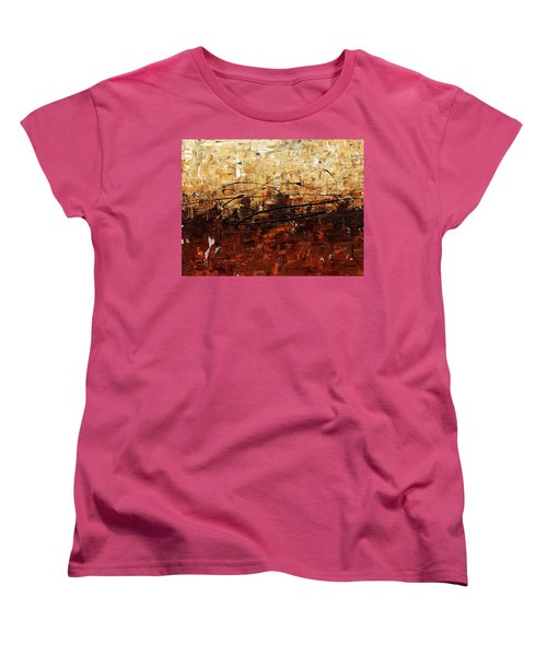 Women's T-Shirt (Standard Cut) featuring the painting Symphony by Carmen Guedez
