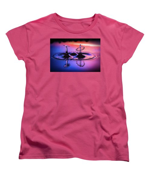 Women's T-Shirt (Standard Cut) featuring the photograph Synchronized Liquid Art by William Lee