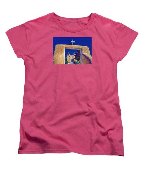 Taos Church Women's T-Shirt (Standard Cut) by Dennis Cox WorldViews