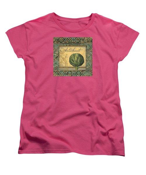 Tavolo, Italian Table, Artichoke Women's T-Shirt (Standard Cut) by Mindy Sommers