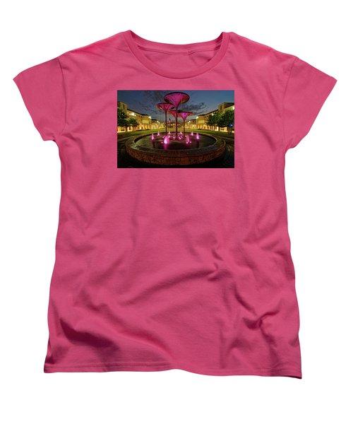 Women's T-Shirt (Standard Cut) featuring the photograph Tcu Frog Fountain by Jonathan Davison