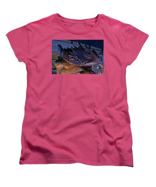 Women's T-Shirt (Standard Cut) featuring the photograph Tcu Frog Mascot by Jonathan Davison
