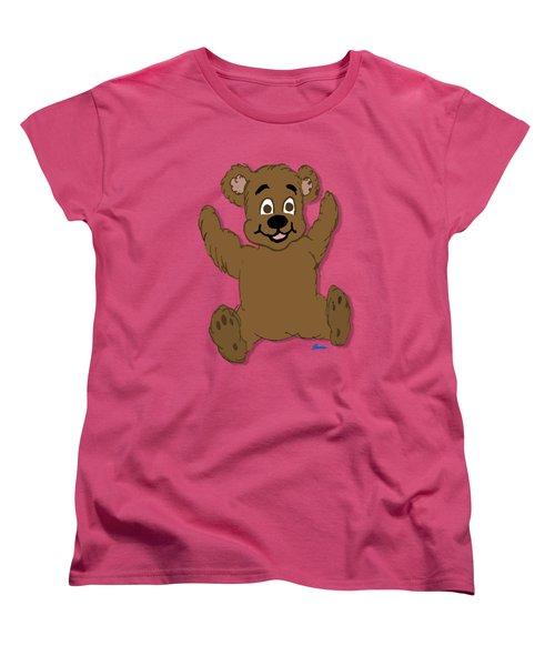 Teddy's First Portrait Women's T-Shirt (Standard Cut) by Pharris Art