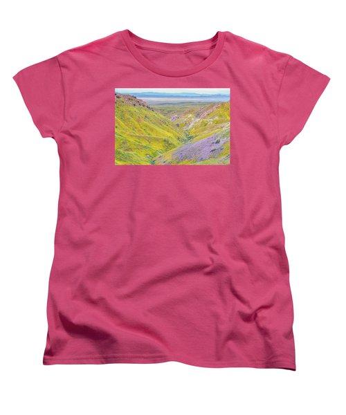 Women's T-Shirt (Standard Cut) featuring the photograph Temblor Range View To Caliente Range by Marc Crumpler