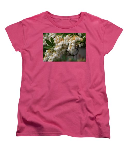 Women's T-Shirt (Standard Cut) featuring the photograph Temple Bells Andromedia by Chris Flees