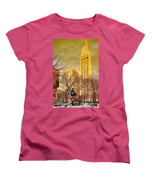 Ten Past Four At Madison Square Park Women's T-Shirt (Standard Cut) by Chris Lord