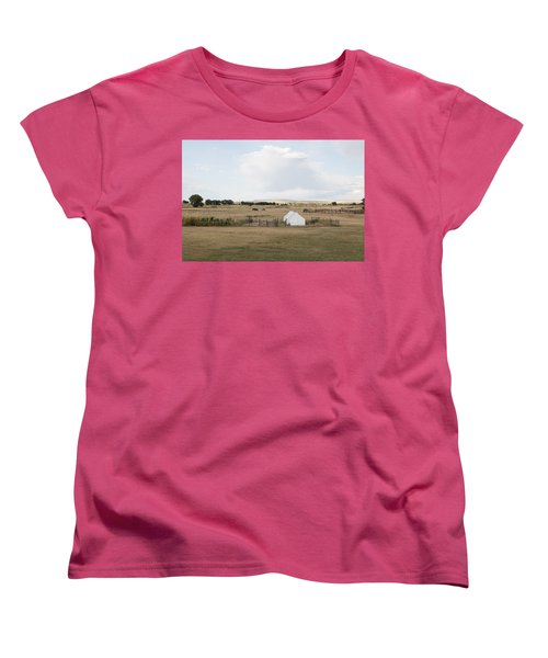 Tents At Fort Laramie National Historic Site In Goshen County Women's T-Shirt (Standard Cut) by Carol M Highsmith