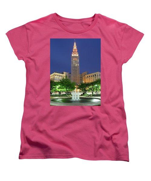 Terminal Tower Women's T-Shirt (Standard Cut) by Frozen in Time Fine Art Photography