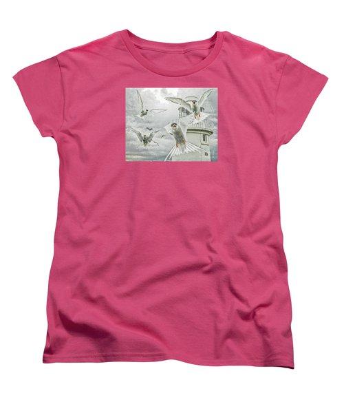 Women's T-Shirt (Standard Cut) featuring the photograph Tern Attack by Brian Tarr