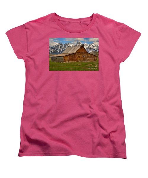 Teton Mountain Barn Women's T-Shirt (Standard Cut) by Adam Jewell