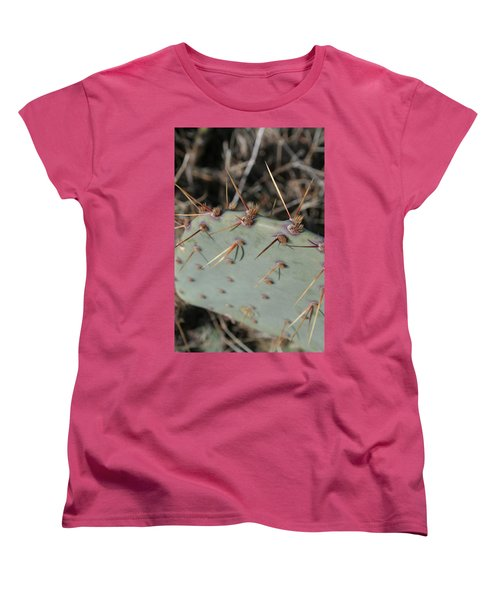 Women's T-Shirt (Standard Cut) featuring the photograph Texas Spikes by Laddie Halupa
