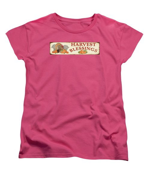 Women's T-Shirt (Standard Cut) featuring the painting Thanksgiving-f by Jean Plout
