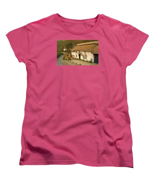 Thatched Cottage By Ford  Women's T-Shirt (Standard Cut) by Richard Brookes