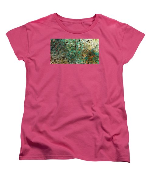 Women's T-Shirt (Standard Cut) featuring the painting The Abstract Concept by Carmen Guedez