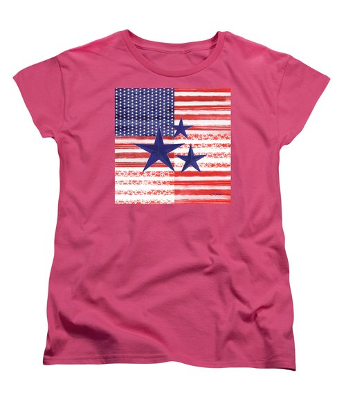 Women's T-Shirt (Standard Cut) featuring the photograph The Americana Flag by Colleen Taylor