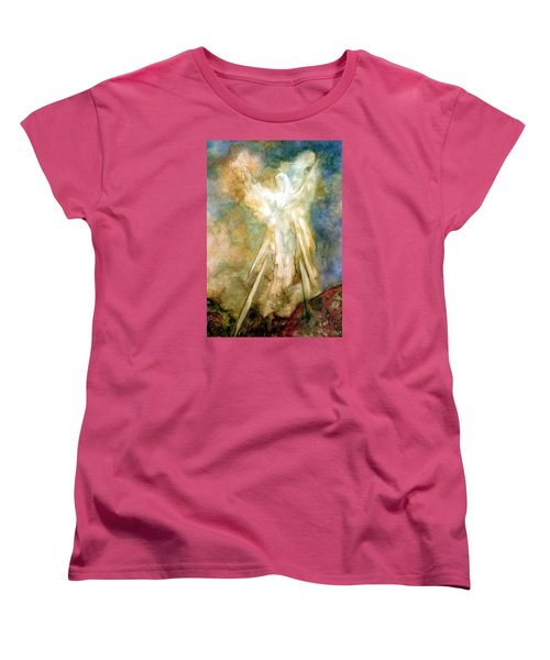 Women's T-Shirt (Standard Cut) featuring the painting The Appearance by Marina Petro
