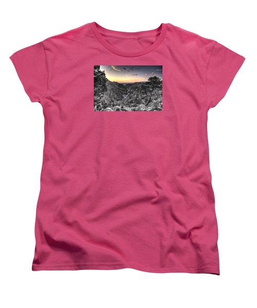 Women's T-Shirt (Standard Cut) featuring the digital art The Arkansas Through Royal Gorge by William Fields