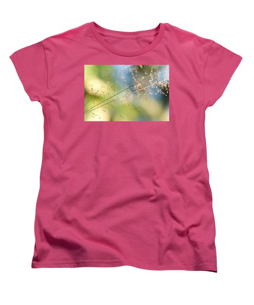 The Beauty Of The Earth. Natural Watercolor Women's T-Shirt (Standard Cut) by Jenny Rainbow