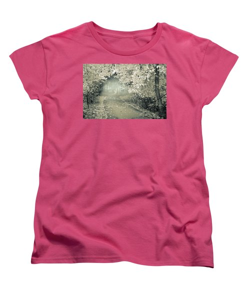 Women's T-Shirt (Standard Cut) featuring the photograph The Bench That Waits For You by Tara Turner