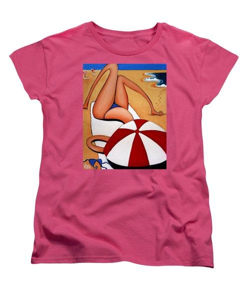 The Blue Bikini Women's T-Shirt (Standard Cut) by Leanne Wilkes
