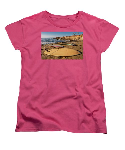 The Boards Women's T-Shirt (Standard Cut) by Peter Tellone